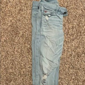 Lightly worn distressed Hollister skinny jeans
